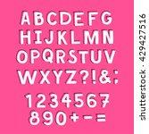 hand made doodle font. doodle... | Shutterstock .eps vector #429427516