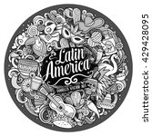 latin america. cartoon vector... | Shutterstock .eps vector #429428095