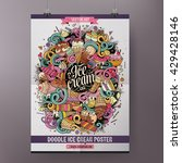 template poster design with the ... | Shutterstock .eps vector #429428146