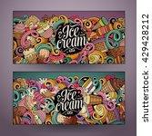 cartoon colorful vector hand...   Shutterstock .eps vector #429428212