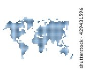 dotted blue world map isolated... | Shutterstock . vector #429431596