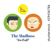 the mad boss with man employee... | Shutterstock .eps vector #429436786