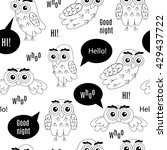 set owl bubbles vector isolated ... | Shutterstock .eps vector #429437722