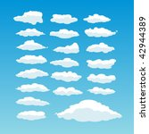 twenty one cute vector clouds | Shutterstock .eps vector #42944389