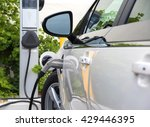 an electric car or automobile... | Shutterstock . vector #429446395