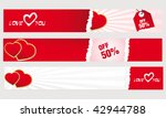 valentine's day banners | Shutterstock .eps vector #42944788