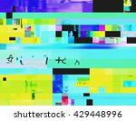 glitch background in the rave... | Shutterstock .eps vector #429448996