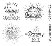 set of inspirational lettering... | Shutterstock . vector #429449422