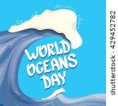 world oceans day vector... | Shutterstock .eps vector #429452782