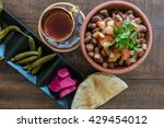 foul modammas fava beans top... | Shutterstock . vector #429454012