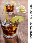 the cooling drink with ice and... | Shutterstock . vector #429454936