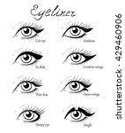 Types Of Eye Makeup. Cat...