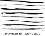 set of grunge brush strokes | Shutterstock .eps vector #429461572