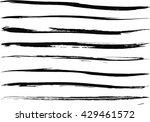 set of grunge brush strokes | Shutterstock .eps vector #429461572