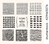 hand drawn textures and brushes.... | Shutterstock .eps vector #429465076