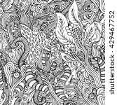 seamless vector psychedelic...   Shutterstock .eps vector #429467752