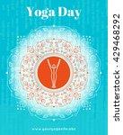 vector yoga illustration.... | Shutterstock .eps vector #429468292