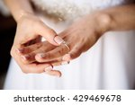 hand of the bride and rings.... | Shutterstock . vector #429469678