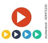 vector play icon | Shutterstock .eps vector #429471232