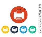 vector printer icon | Shutterstock .eps vector #429471292