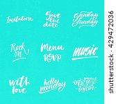 big summer handdrawn lettering