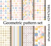 simple geometric background set.... | Shutterstock .eps vector #429476386