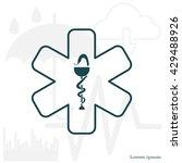 medicine  ambulance  icon | Shutterstock .eps vector #429488926