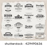 retro creative vintage labels... | Shutterstock .eps vector #429490636