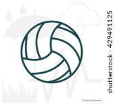 volleyball ball | Shutterstock .eps vector #429491125