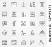 museum icons set   vector... | Shutterstock .eps vector #429498676