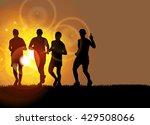 sport background  marathon... | Shutterstock .eps vector #429508066