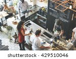 coffee shop bar counter cafe... | Shutterstock . vector #429510046