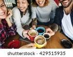 camping coffee friendship... | Shutterstock . vector #429515935