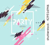 abstract background for party... | Shutterstock .eps vector #429516946