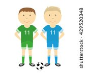 happy boys are playing football | Shutterstock .eps vector #429520348