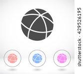 globe . vector icon 10 eps | Shutterstock .eps vector #429526195