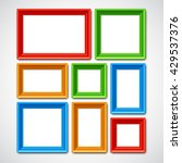 collafe of color picture frames ... | Shutterstock .eps vector #429537376