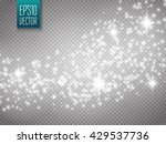 vector white glitter wave... | Shutterstock .eps vector #429537736