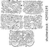 doodle sketch vector...   Shutterstock .eps vector #42955195