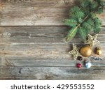 christmas or new year rustic... | Shutterstock . vector #429553552