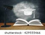 lamp illuminating sketch... | Shutterstock . vector #429555466