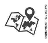 pin and map icon vector... | Shutterstock .eps vector #429558592