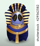 egg young prince of egypt with... | Shutterstock .eps vector #429562582