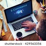 e commerce digital marketing... | Shutterstock . vector #429563356