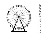 ferris wheel silhouette  circle.... | Shutterstock .eps vector #429564805