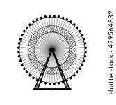 ferris wheel silhouette  circle.... | Shutterstock .eps vector #429564832