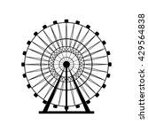 ferris wheel silhouette  circle.... | Shutterstock .eps vector #429564838