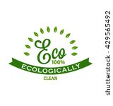 eco 100    ecologically clean... | Shutterstock .eps vector #429565492
