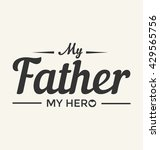 father's day typographic vector ... | Shutterstock .eps vector #429565756