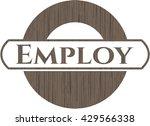 employ badge with wooden... | Shutterstock .eps vector #429566338